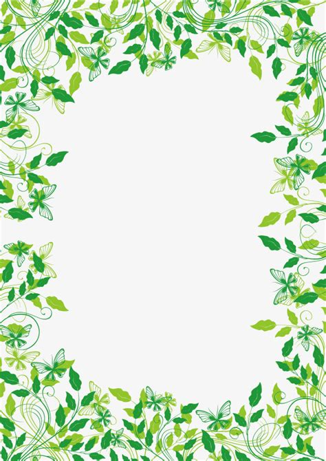 design exle 3 sixteen plants are assigned to green plants cane border vector material green plant rattan png and vector for free download