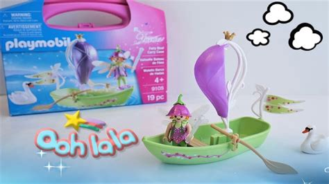 playmobil fairy boat carry case playmobil fairies fairy boat carry case 9105 unboxing