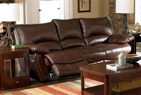 top grain leather sofa set 3 pc coaster clifford top grain leather reclining sofa set