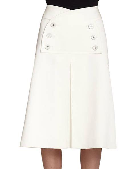 high waist a line skirt with box pleat elizabeth s