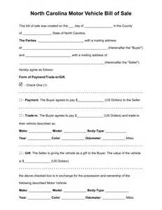 bill of sale motor vehicle template free carolina motor vehicle bill of sale form pdf