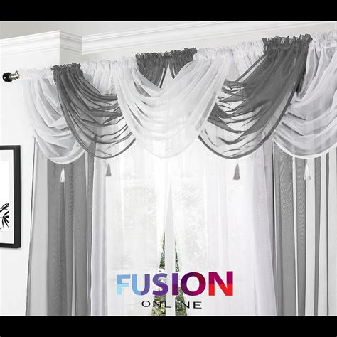 Swag Valance Curtains Net Curtain Swag Swags Tassle Voile Decorative Drapes Pelmet Valance All Colours Ebay