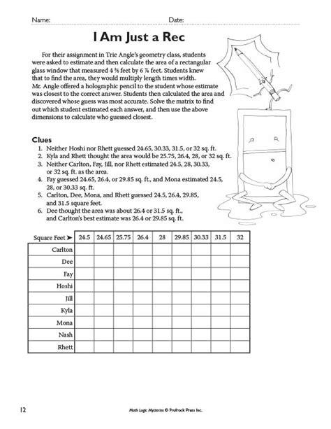 printable mystery logic puzzles math logic worksheets primary inspiration math logic