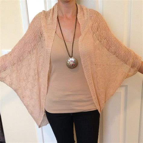 free knitting patterns shawl with sleeves 62 off moth outerwear anthropologie peach knitted shawl