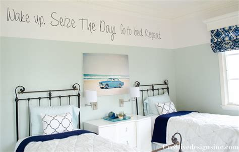 two tone walls bedroom guest bedroom with two toned walls modern san diego by cre8tive interior designs