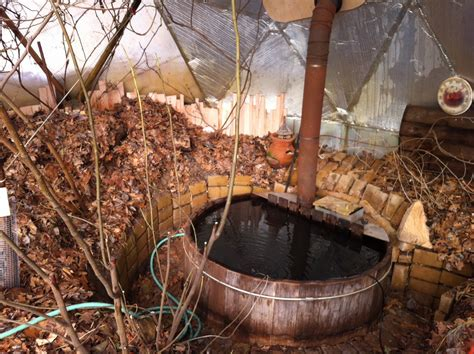 Wood Fired Bathtub Snorkel Tub In Greenhouse For A Possible Conversion To