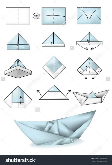 Paper Ship Origami - origami origami how to make a paper boat steps with