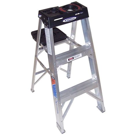 3 step stool 300 lb capacity werner 3 ft fiberglass step ladder with 375 lb load