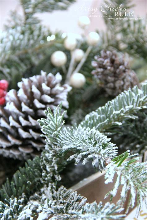 diy flocked tree wreaths and more thrifty holiday decor