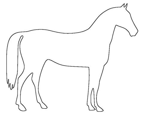 Horse drawing template pictures to pin on pinterest
