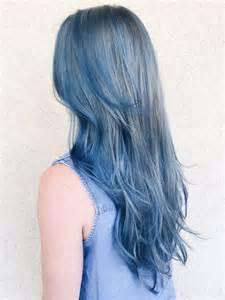 black is the color of my true hair les cheveux blue la tendance coloration du
