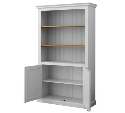 mottisfont solid pine painted 2 door open bookcase in 3