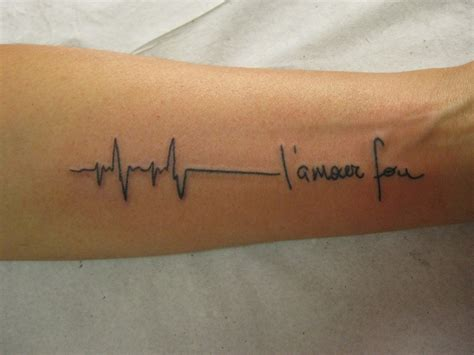heartbeat line tattoo heartbeat or ekg line designs and meanings hubpages