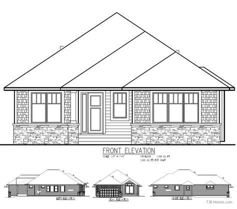 Rambler Floor Plans Tjb 335 Tjb Homes 2000 Sq Ft Rambler House Plans