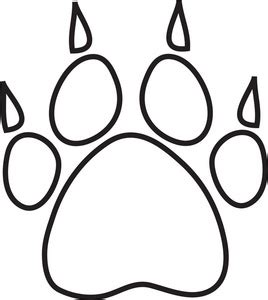 Coloring Page Tiger Paw | tiger paw clipart black and white clipart panda free