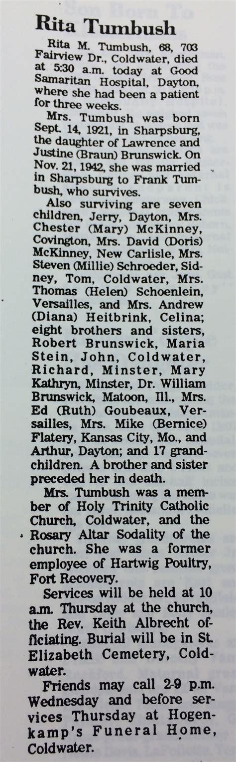 Dayton Ohio Marriage Records Obituary Celina Daily Standard Ohio Obituary Index