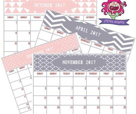 printable calendar 2017 pink free 2017 printable calendar 12 shades of pink and grey