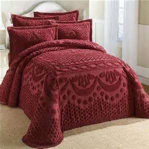 100 cotton textured chenille lattice medallion bedspread