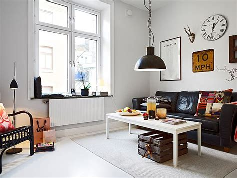 industrial apartment small nordic apartment with industrial touches