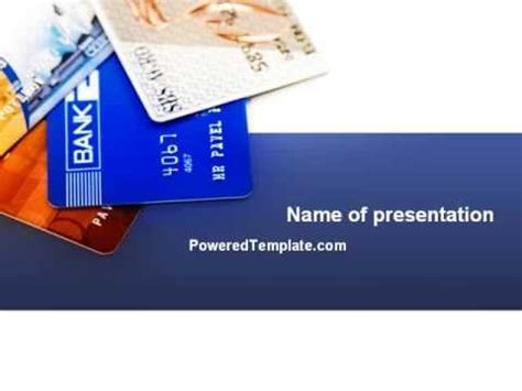 Credit Card Powerpoint Template by Credit Cards Powerpoint Template By Poweredtemplate