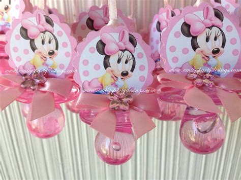 Baby Shower Minnie Mouse by Minnie Mouse Baby Shower Pacifier Necklace By Designsbyemilys
