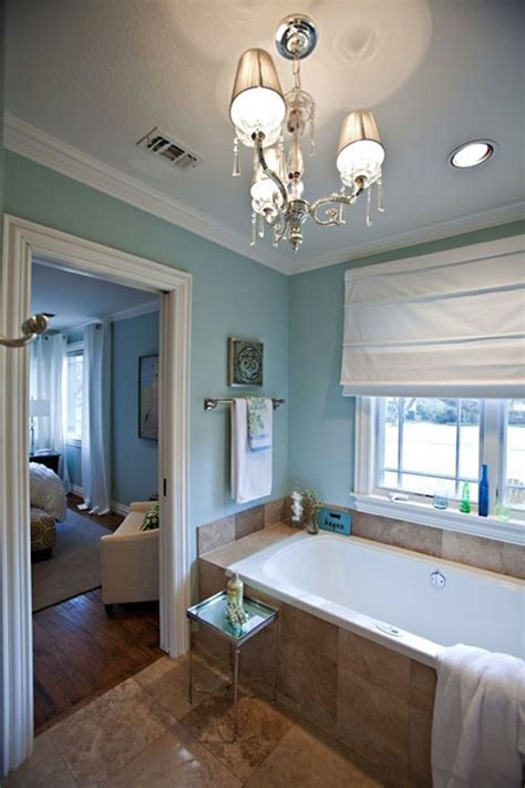 Spa Bathroom Paint Colors by Spa Blue Paint Color Contemporary Bathroom Sherwin