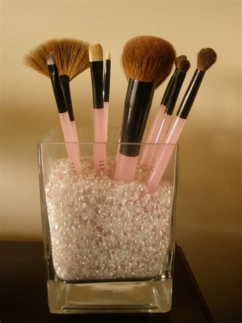 put in makeup brush holder make up brush holder diy organize