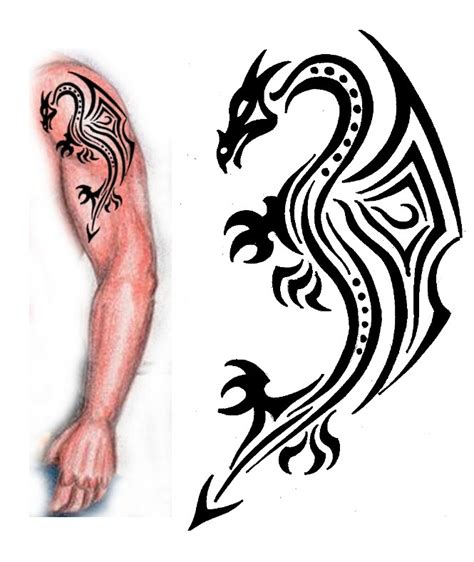 tattoo designs tribal dragon tattoo design by