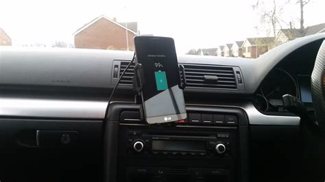 in car phone holder and charger easgear qi wireless car charger and phone holder review
