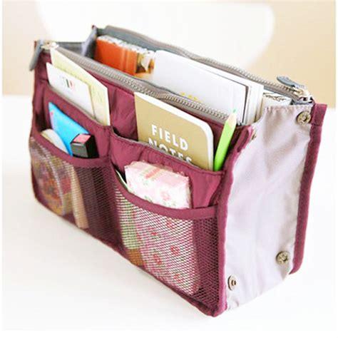 Korean Bag In Bag Organizer Dual Bag In Bag korean design multi storage bag in bag organizer handbag make up purse travel bag zipper storage