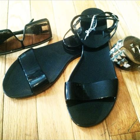 Jeally Dress Navy navy reserved black ankle jelly sandals from