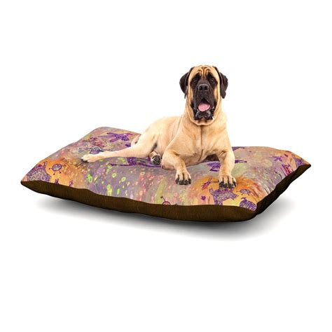 purple dog bed marianna tankelevich quot levitating monsters quot orange purple dog bed kess inhouse