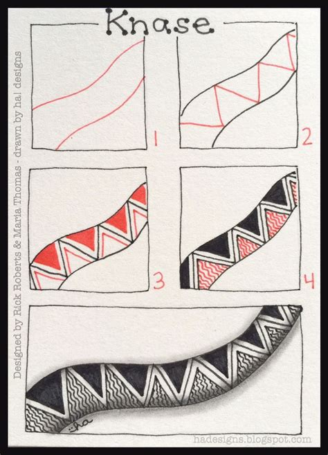 Zentangle Pattern Knase | zentangle patterns step by step zentangle 174 pattern of the