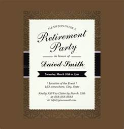 Free Templates For Retirement Invitations 12 retirement invitations psd ai