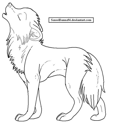 template simple wolf and howling wolf template by sasoridanna94 on deviantart