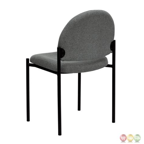 comfortable side chairs gray fabric comfortable stackable steel side chair