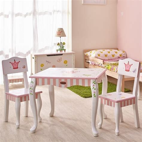 princess table and chair set fields painted princess and frog table and