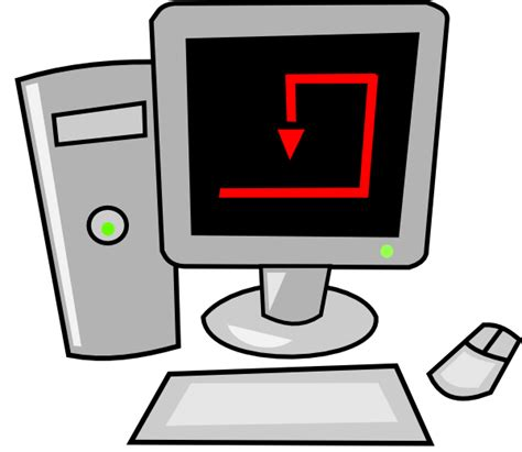 clipart pc computer desktop clip at clker vector