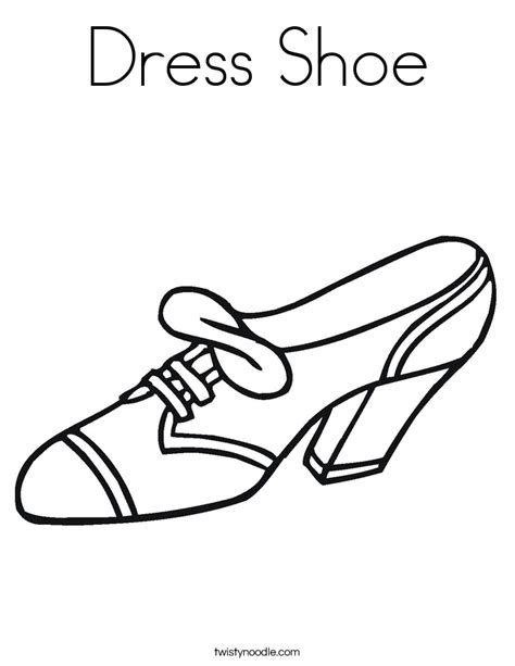dress shoe coloring page twisty noodle