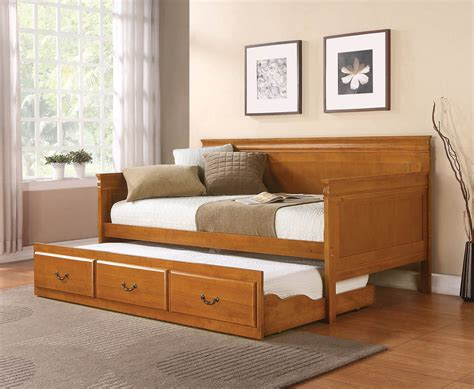 wooden day bed oak finish wooden day bed