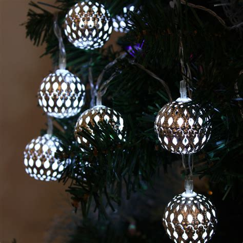 durable and advanced 10 led christmas ball string lights