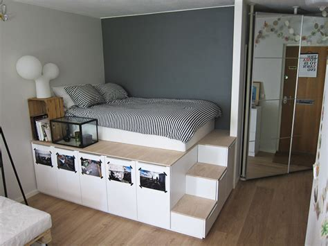Ikea Oppland Dresser by High Platform Bed Plans Woodideas