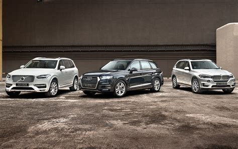 Bmw X5 Vs Audi Q7 by Test Volvo Xc90 T6 2 0 Vs Audi Q7 3 0 Vs Bmw X5