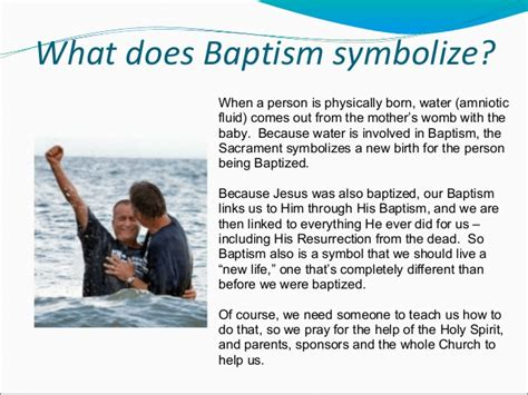 what does water mean confirmation baptism with notes ppt