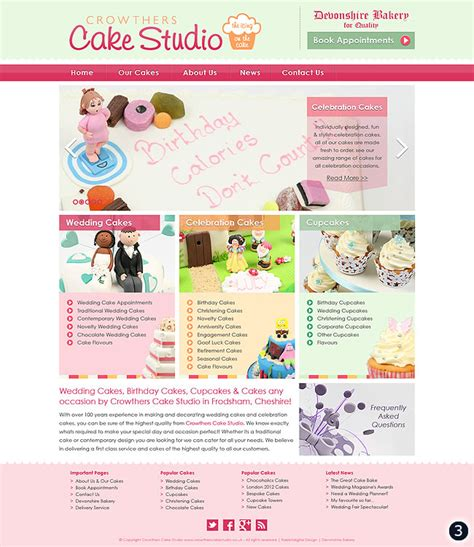 cake websites website design confectionery dessert celebration store