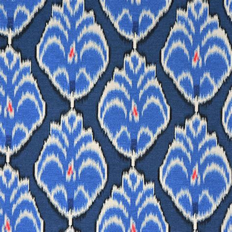 Ikat Upholstery by Royal Blue Ikat Upholstery Fabric Yardage By Popdecorfabrics