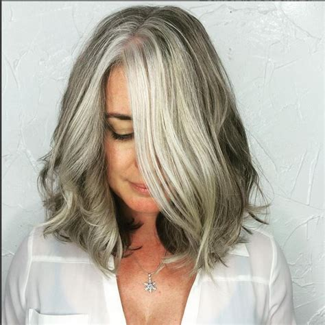 images grey and blond hair blend 2015 best images about hot women with gray silver hair on
