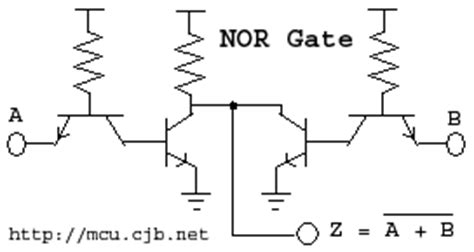 transistor nor gate c shortest tutorial part 1