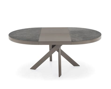 tavoli caligaris tavolo tivoli cs 4100 rotondo e allungabile di calligaris
