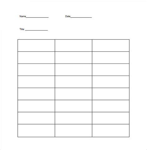 images  printable  column template leseriailcom